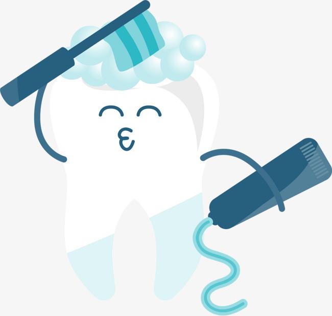 可爱卡通笑脸刷牙牙齿图片