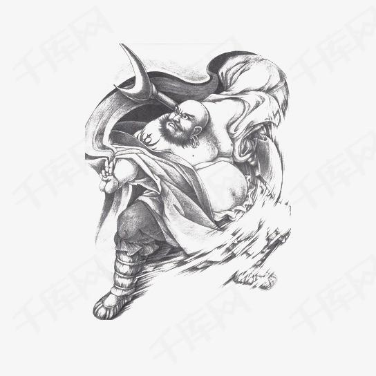手绘水浒英雄鲁智深素材图片免费下载 高清png 千库网 图片编号8879715