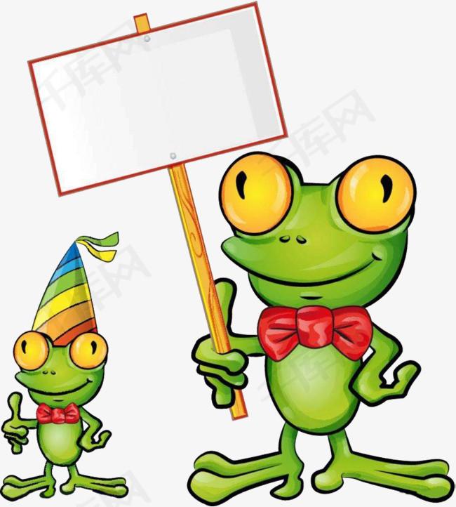 举牌牛蛙图片