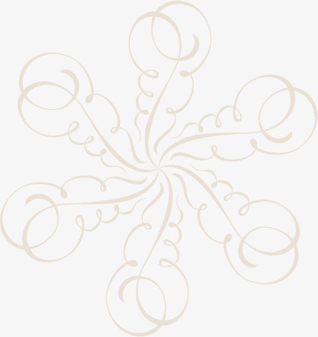 手绘黄色藤蔓