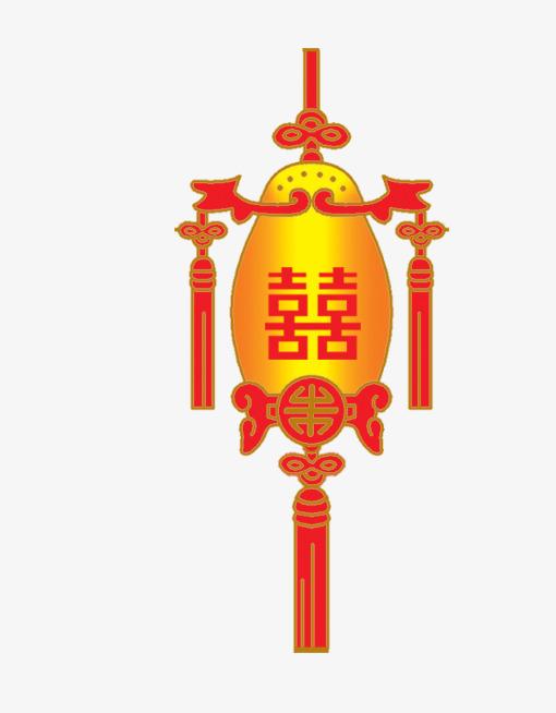手绘中国风喜庆红色灯笼