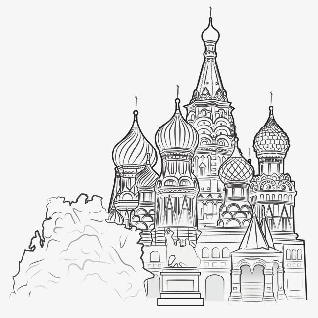 手绘城市建筑素材图片免费下载 高清装饰图案psd 千库网 图片编号1900863