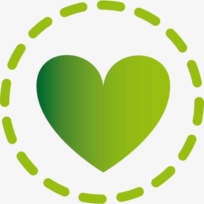 绿色圆圈爱心