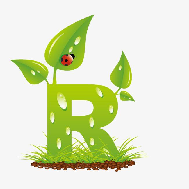 艺术字体创意英语字母r图片