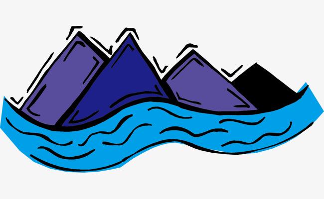 河流卡通_河流大山png素材-90设计图片