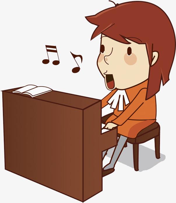 弹钢琴的男孩