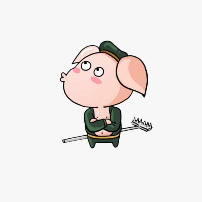 卡通撅嘴猪八戒图片