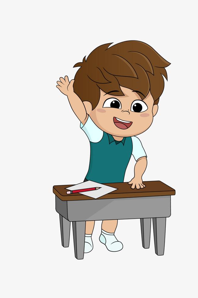 矢量卡通手绘可爱举手男孩png素材下载_高清图片png图片