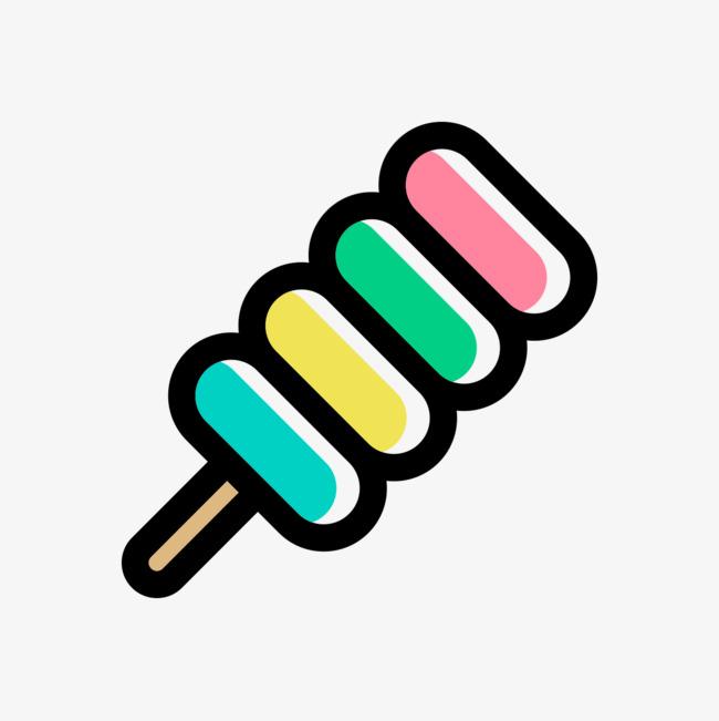 手绘彩色食物串串