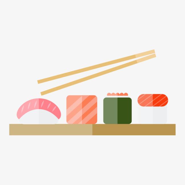 手绘筷子夹食物