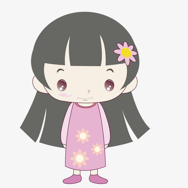 手绘卡通可爱女孩