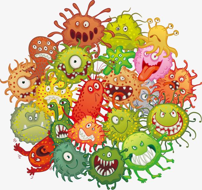 创意卡通细菌图片