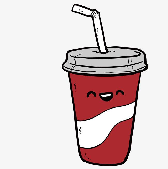 手绘卡通饮料奶茶