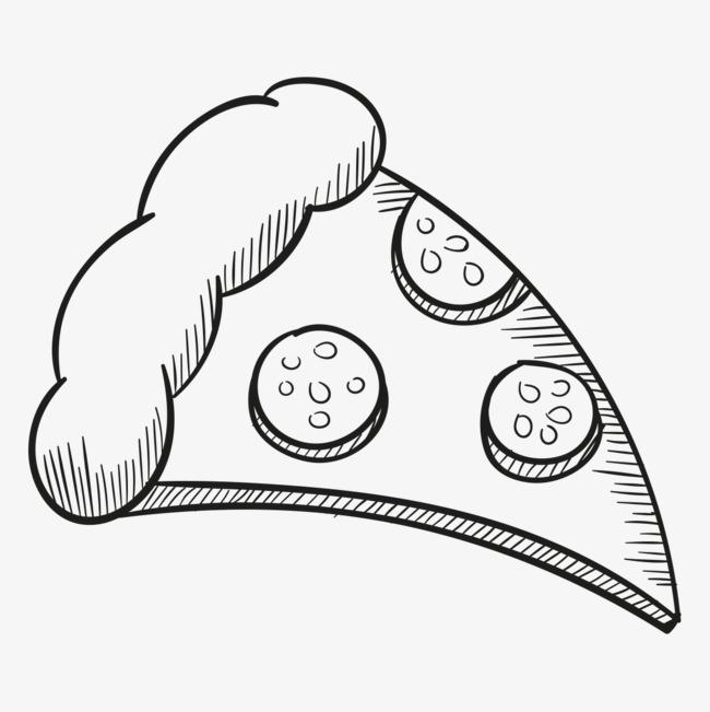简笔画披萨图片大全