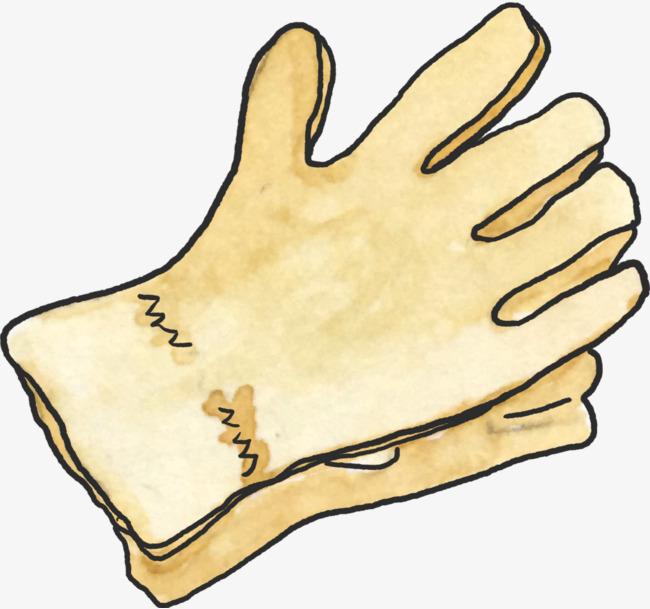手绘水彩手套