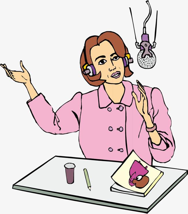 图片 > 【png】 卡通直播主持人  分类:手绘动漫 类目:其他 格式:png