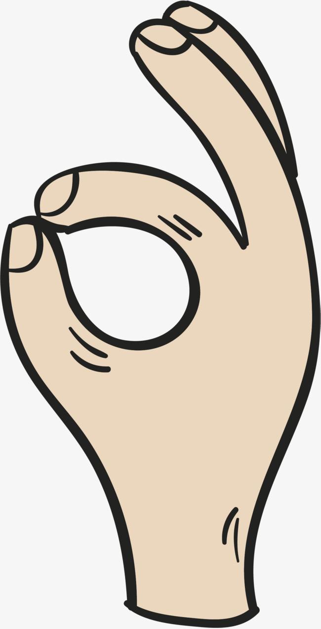 卡通ok手势图片