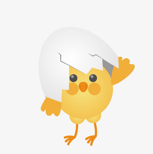 图片 卡通小鸡 > 【png】 破壳的小鸡  分类:手绘动漫 类目:其他 格式图片