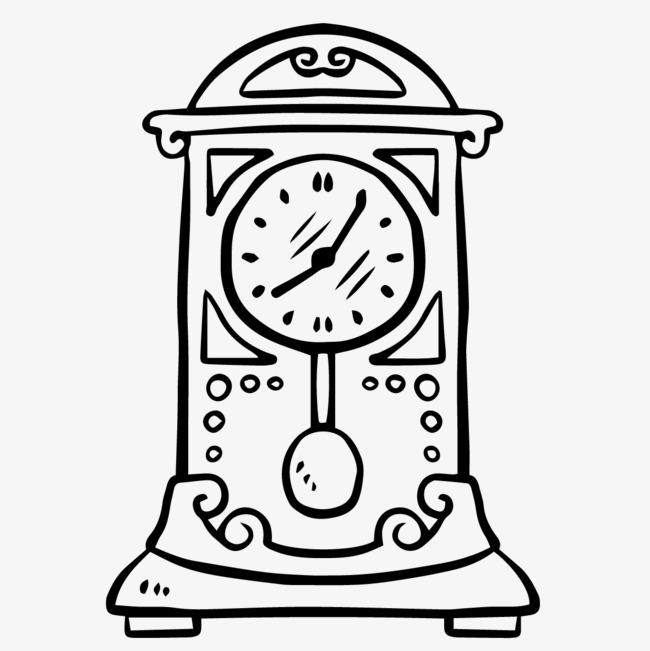 手绘的时钟图片