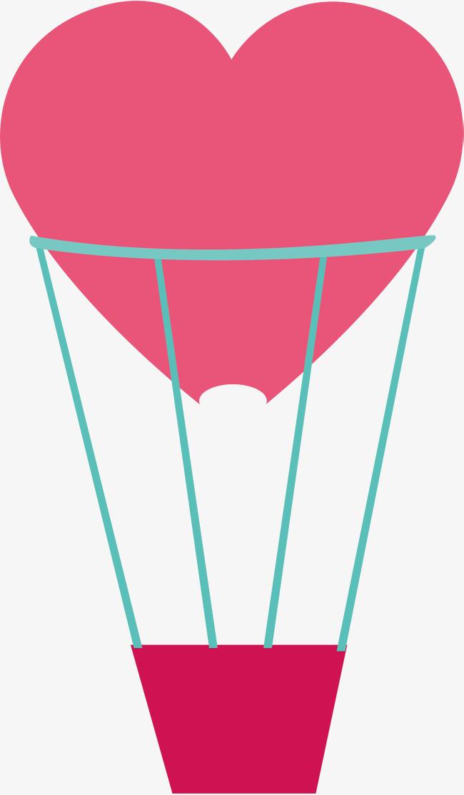 粉色爱心热气球_png素材免费下载_ 2000*3420像素(:)