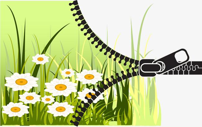 春天拉链创意背景素材png素材-90设计图片