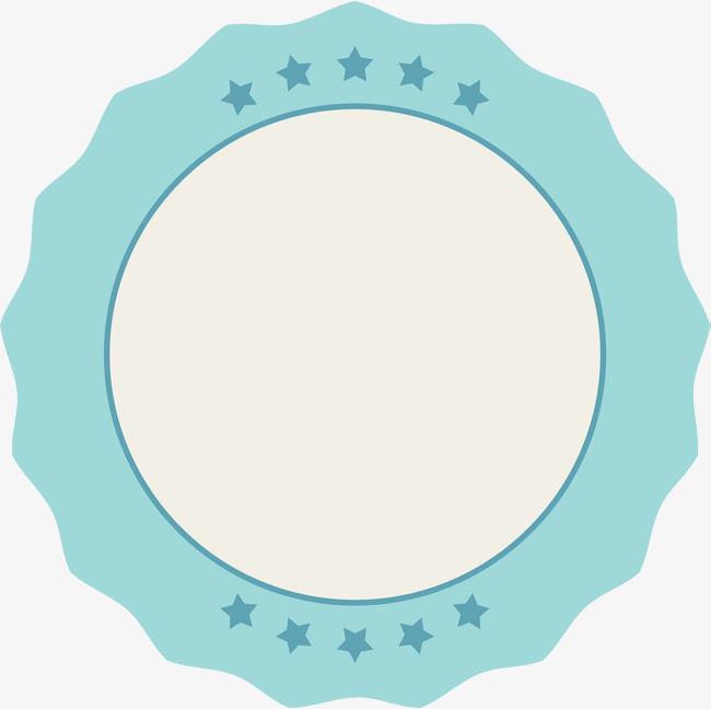 手绘蓝色星星卡片