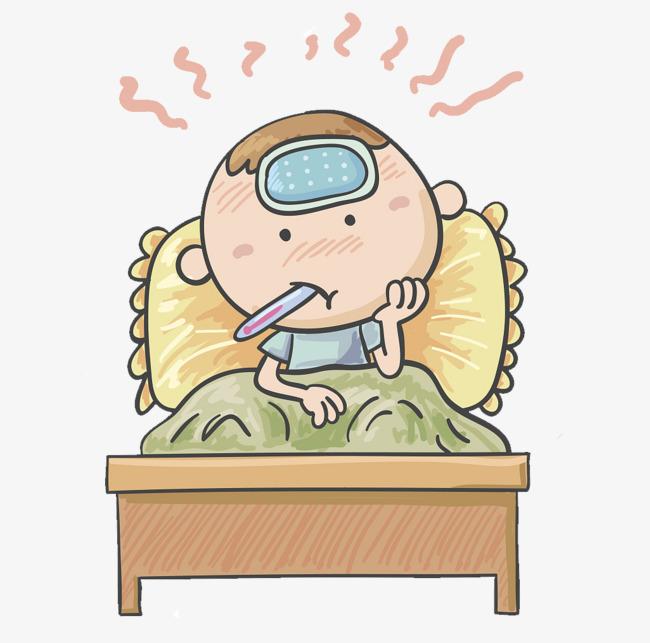 宝宝插图生病发烧图片