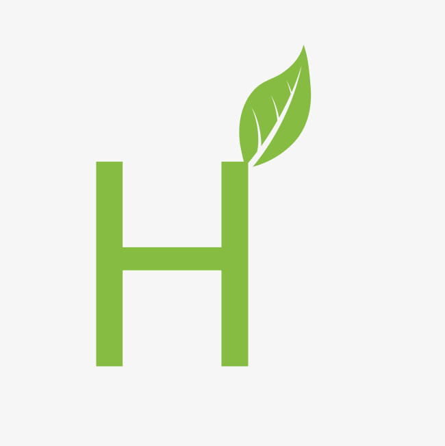 本次创意绿色植物英语字母h作品为设计师刘金辉创作,格式为png,编号为图片