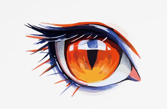 水彩 眼睛矢量 卡通手绘 眼睛免扣png图 眼睛png矢量图免扣素材