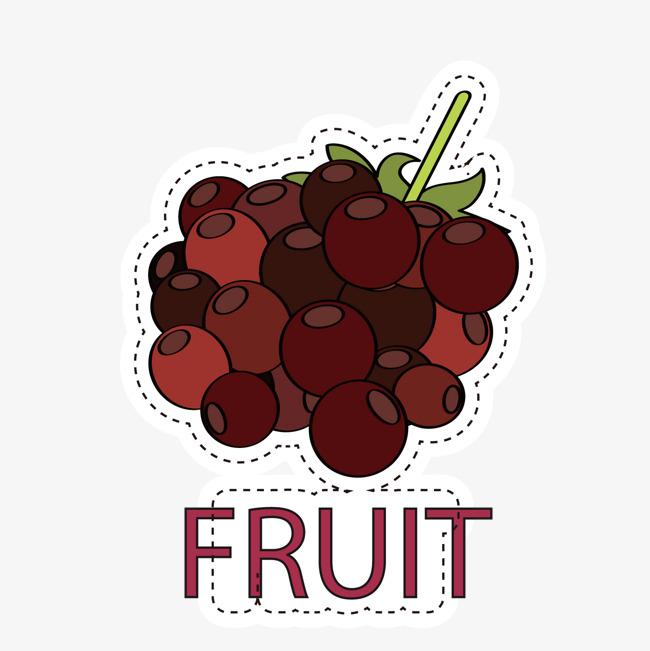 手绘水果布贴