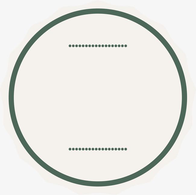 手绘绿色圆圈线条