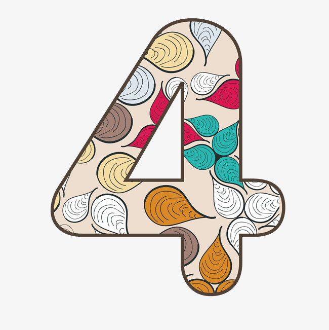 创意字体设计数字4