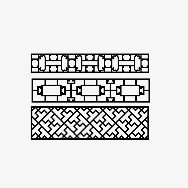 中式古典栏杆花格样式