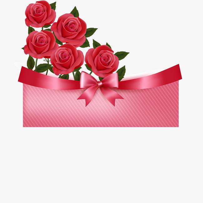 手绘红色花朵花瓣