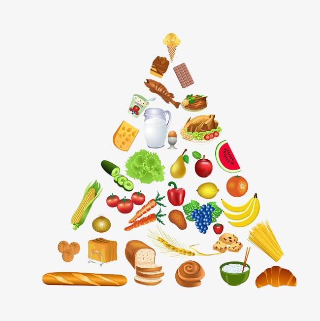 健康饮食金字塔图片