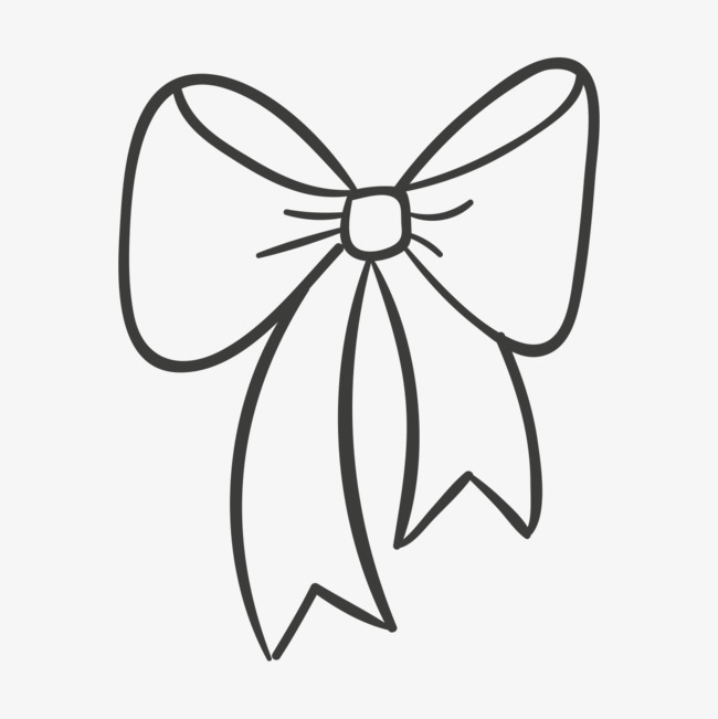 手绘卡通蝴蝶结