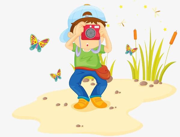 小男孩相机简笔画_png素材免费下载_ 600*456像素(:)