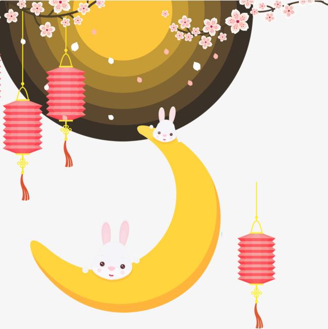 手绘风中秋节节日