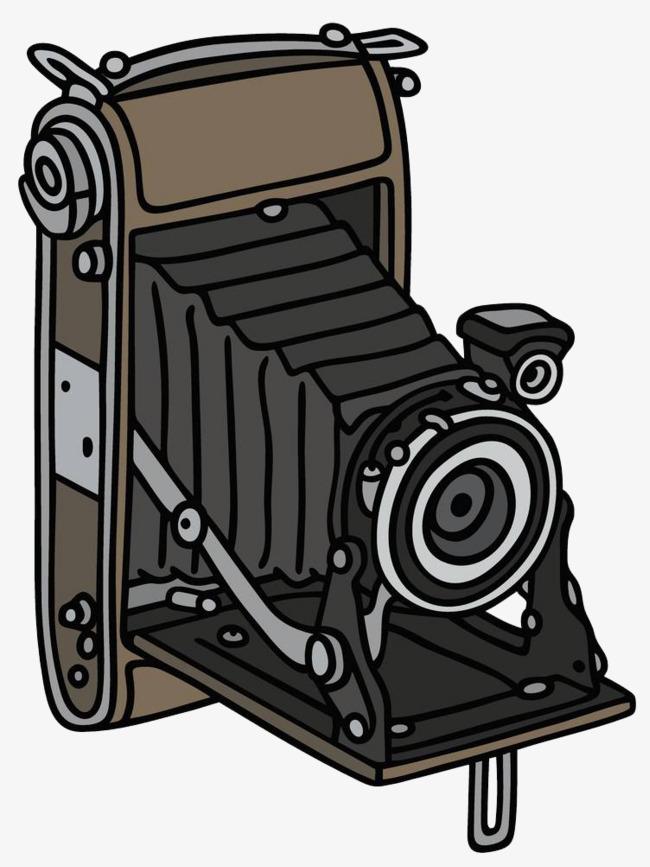 棕色古典相机简笔画png素材下载_高清图片png格式(:)