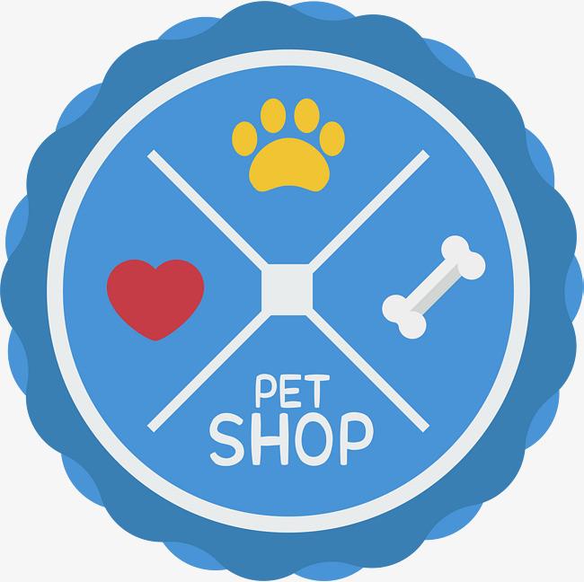 图片 其他 > 【png】 宠物商店蓝色标签