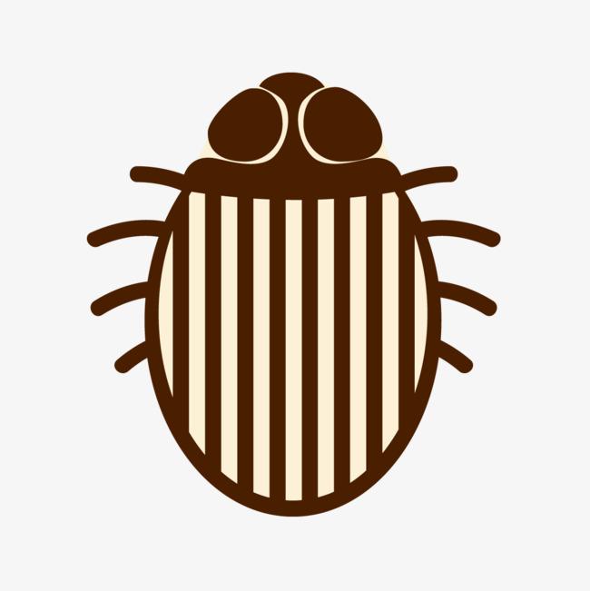 手绘卡通条纹昆虫