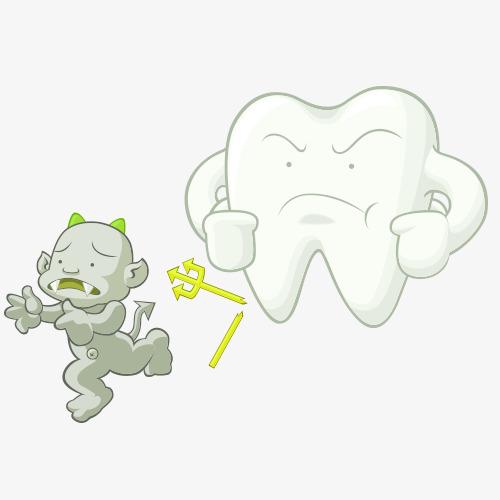 牙齿病毒卡通图图片