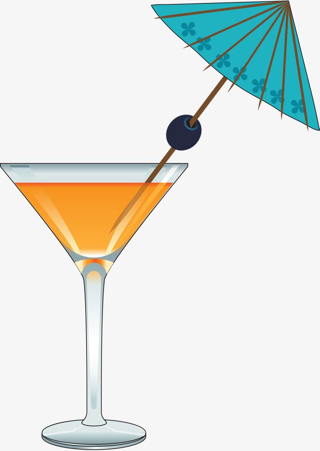 手绘透明杯子雨伞
