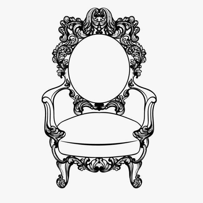 手绘欧式椅子