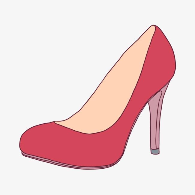 卡通手绘高跟鞋