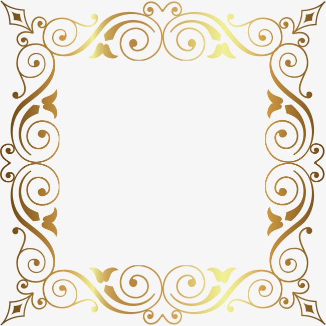 手绘黄色藤蔓边框