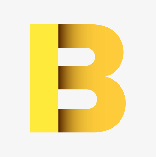 免费黄b网_点击右侧免费下载按钮可进行 黄色立体字母bpng图片素材高速下载.