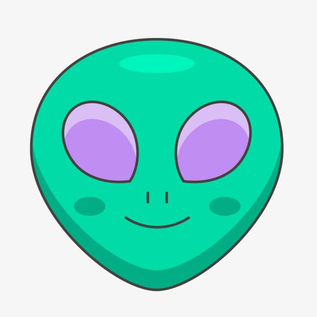卡通手绘的外星人