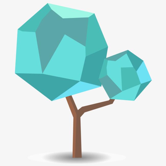 蓝色钻石树木png素材下载_高清图片png格式(编号:)-90