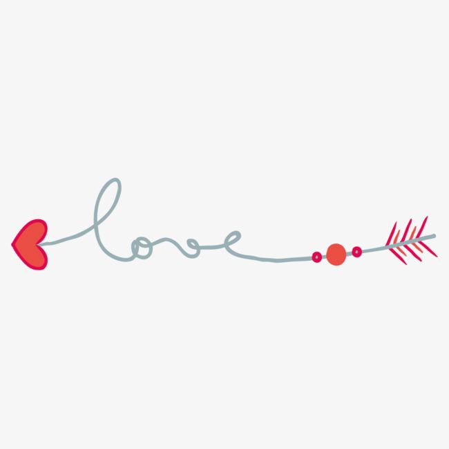 手绘的爱心线条